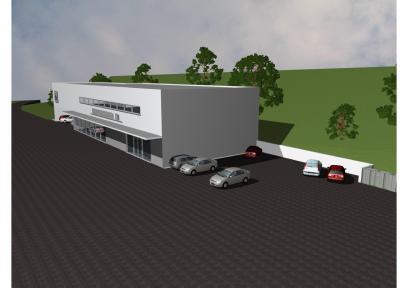 Neubau BMW-Garage und Ausstellung in Buochs/NW der Kurt Steiner AG, Luzern